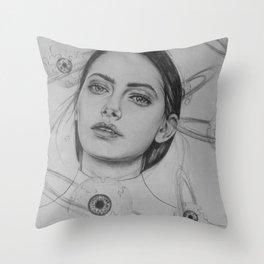 Planet Eyeball Throw Pillow