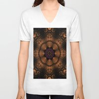 copper V-neck T-shirts featuring Copper Fantasia by Robin Curtiss
