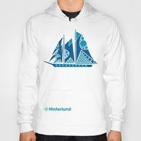 sailboat Hoodies featuring Sailboat by Hinterlund