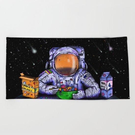 Astronaut's Breakfast Beach Towel