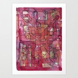 raspberries (archigraph series #3) Art Print