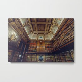 19th Century Gilded Age Library Print Metal Print