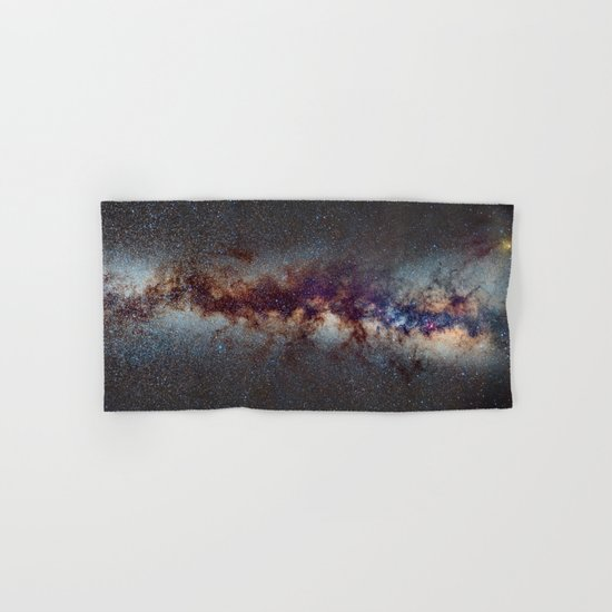 The Milky Way: from Scorpio, Antares and Sagitarius to Scutum and Cygnus Hand & Bath Towel