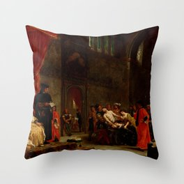 "Eugène Delacroix ""Les Deux Foscari (The Two Foscari)"" Throw Pillow"
