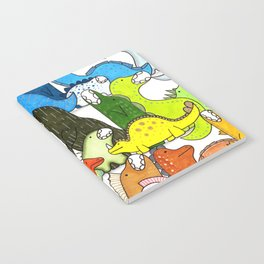 Rainbow Dinosaur Gradient Notebook