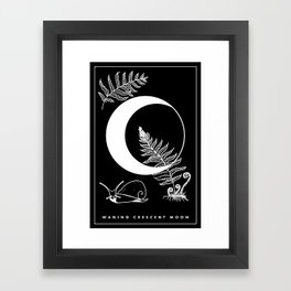 Waning Crescent Moon Framed Art Print