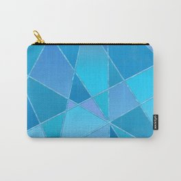 Geometric shapes in blue gradient Carry-All Pouch