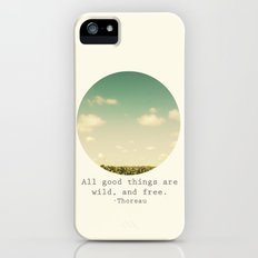 Wild and Free iPhone (5, 5s) Slim Case