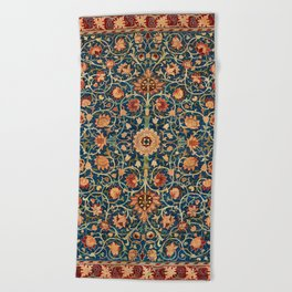 William Morris Floral Carpet Print Beach Towel