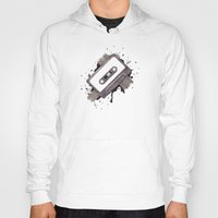 cassette Hoodies featuring Cassette by One Curious Chip
