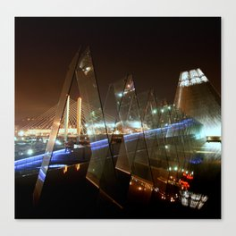Tacoma at Night Canvas Print