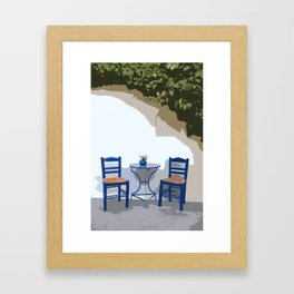 greek life Framed Art Print