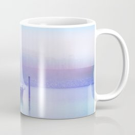 Moored Boats In the Early Morning Fog Coffee Mug