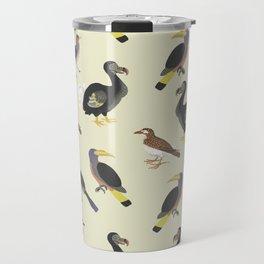 medieval illustration BIRDS Travel Mug