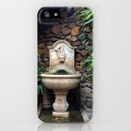 Secret Garden Fountain Malaga Alcazaba iPhone Case