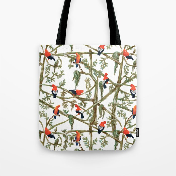 Gallitos De Las Rocas Peruvian National Bird Gathering Tote Bag