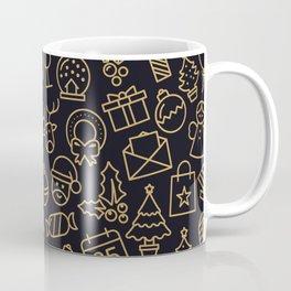 Lovely Golden Christmas Stuffs Pattern Coffee Mug