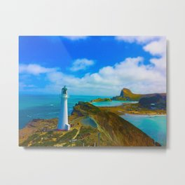 Lighthouse on a Hill Metal Print