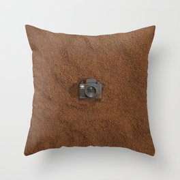 Ground Coffee & Tiny Tiny Camera Throw Pillow