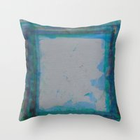 frame Throw Pillows featuring Frame by Kristin Rodgers
