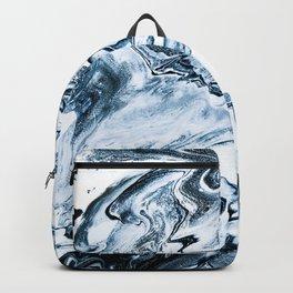 M A R B L E - dark blue & white Backpack