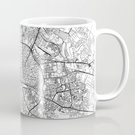 Bucharest White Map Coffee Mug