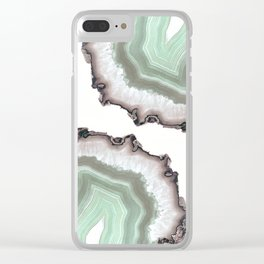Light Water Agate Clear iPhone Case