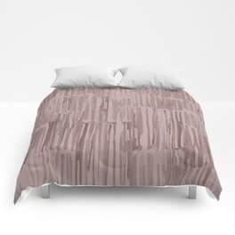 Simply Bamboo Brushstroke Red Earth on Clay Pink Comforters