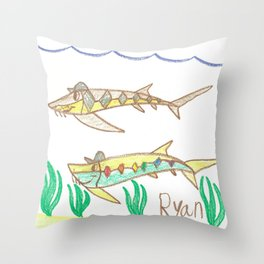 Game Buddies Throw Pillow