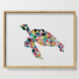 Colorful Geometric Turtle Serving Tray
