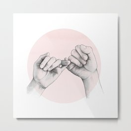 pinky swear // hand study Metal Print