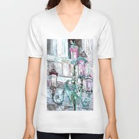 lights V-neck T-shirts featuring lights by Oksana Ivanenko
