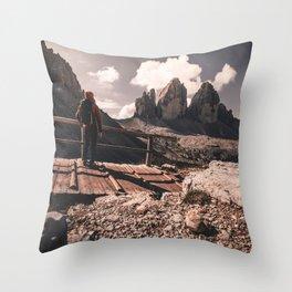 Feeling the Dolomites Throw Pillow