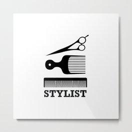 Hair Stylist Metal Print