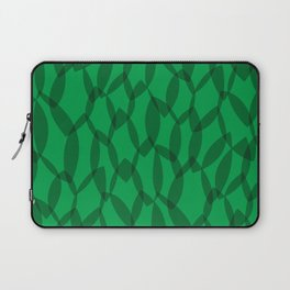 Overlapping Leaves - Dark Green Laptop Sleeve