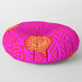 PLANTAIN PALACE - RED/PINK/ORANGE Floor Pillow