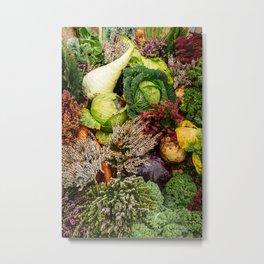 Vegetable pattern Metal Print