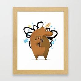 small and big bear Framed Art Print