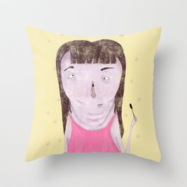 Mascara Problems Throw Pillow