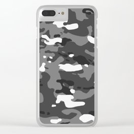 Military Camouflage: Urban II Clear iPhone Case