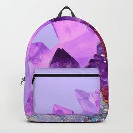 VIBRANT PURPLE AMETHYST CRYSTALS Backpack