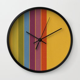 Retro Movie Camera Color Palette Wall Clock