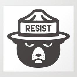 Bear Hat is Resist Art Print