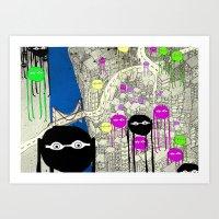 Invasion! Art Print