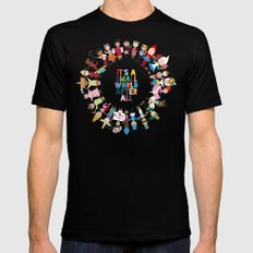 It's a Small World  Black MEDIUM Mens Fitted Tee