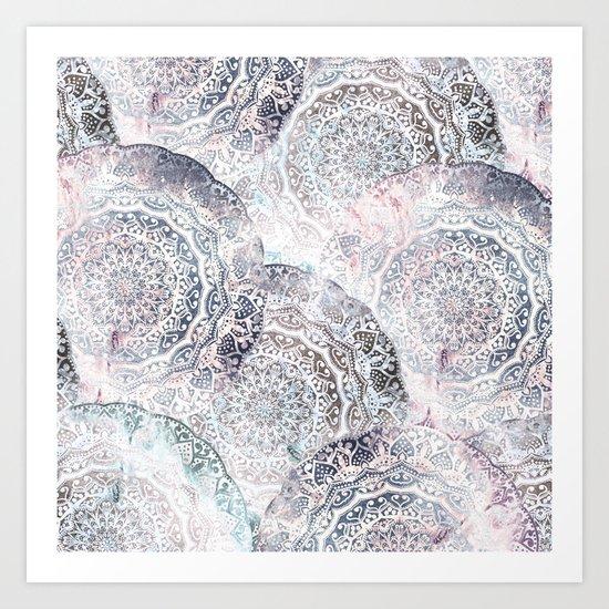 GALAXY BOHO MANDALAS Art Print