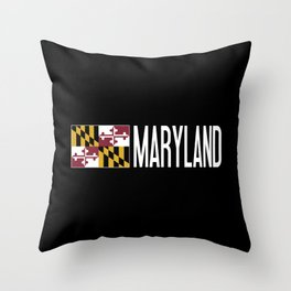 Maryland: Marylander Flag & Maryland Throw Pillow