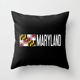 Maryland: Marylander Flag & Maryland Throw Pillow