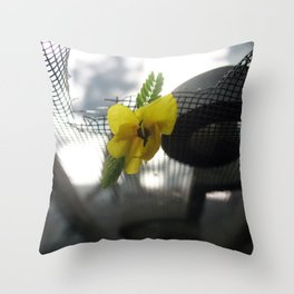 Little Yellow Flower Throw Pillow