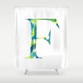 Letterforms F : Frankie Shower Curtain
